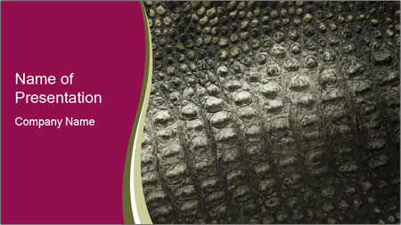 Grey Crocodile Leather PowerPoint Template