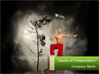 Chinese Martial Arts PowerPoint Template - Slide 1