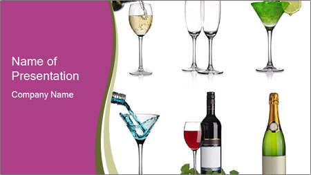 Choice of Beverage PowerPoint Template