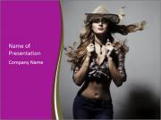 Cowboy Style Blondie PowerPoint Templates