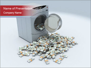 Money and Washing Machine PowerPoint Templates - Slide 1