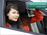 Woman and Car PowerPoint Templates