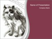 Cat Outline PowerPoint Templates
