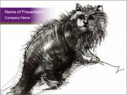 Cat Drawing PowerPoint Templates