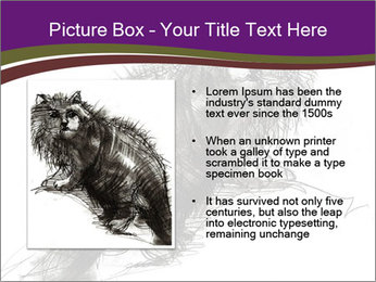 Cat Drawing PowerPoint Template - Slide 13