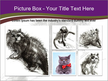 Cat Drawing PowerPoint Template - Slide 19