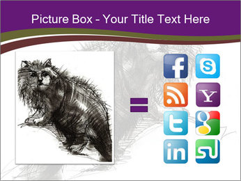 Cat Drawing PowerPoint Template - Slide 21