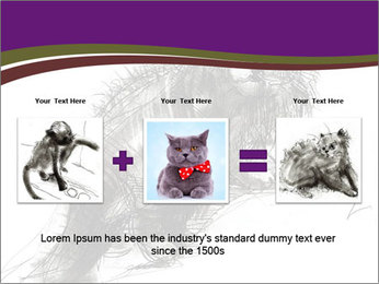 Cat Drawing PowerPoint Template - Slide 22