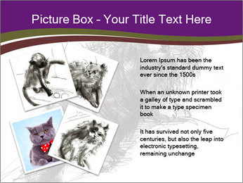 Cat Drawing PowerPoint Template - Slide 23