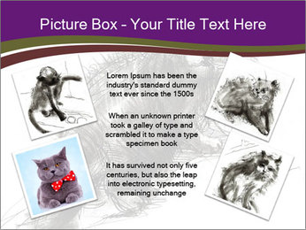Cat Drawing PowerPoint Template - Slide 24