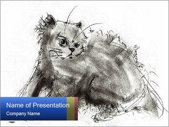 Scratch Cat PowerPoint Template - Slide 1
