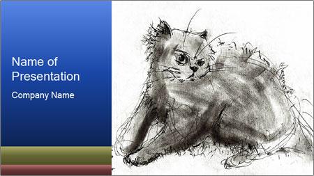 Scratch Cat PowerPoint Template