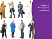 Team of Industrial Contractors PowerPoint Templates