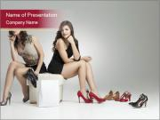 Shoppers at Shoes Salon PowerPoint Templates