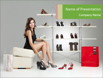 Shoes Show Room PowerPoint Template - Slide 1