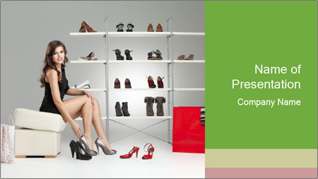 Shoes Show Room PowerPoint Template
