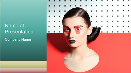 Deometric Idea in Fashion PowerPoint Template