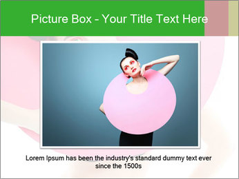 Model with Pink Circle on her Neck PowerPoint Template - Slide 15