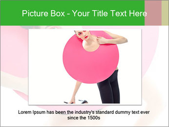 Model with Pink Circle on her Neck PowerPoint Template - Slide 16