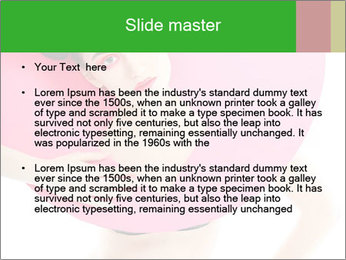 Model with Pink Circle on her Neck PowerPoint Template - Slide 2