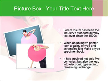 Model with Pink Circle on her Neck PowerPoint Template - Slide 20