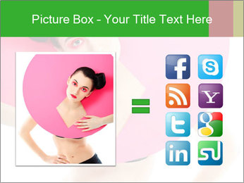 Model with Pink Circle on her Neck PowerPoint Template - Slide 21