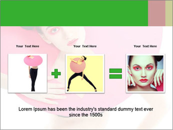 Model with Pink Circle on her Neck PowerPoint Template - Slide 22