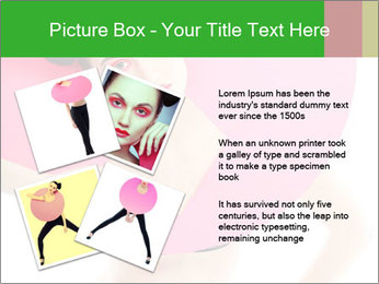 Model with Pink Circle on her Neck PowerPoint Template - Slide 23