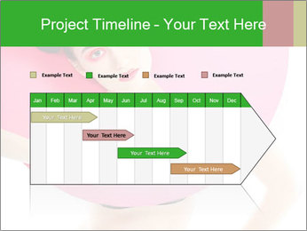 Model with Pink Circle on her Neck PowerPoint Template - Slide 25