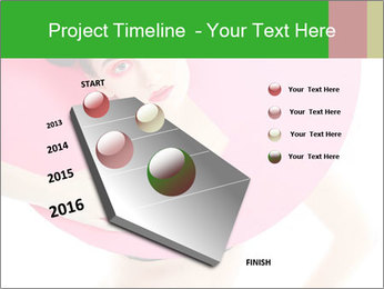 Model with Pink Circle on her Neck PowerPoint Template - Slide 26