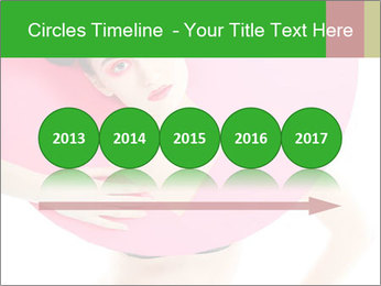 Model with Pink Circle on her Neck PowerPoint Template - Slide 29