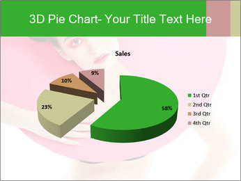 Model with Pink Circle on her Neck PowerPoint Template - Slide 35