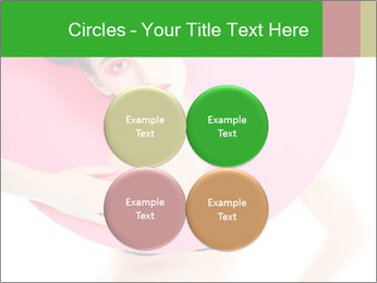 Model with Pink Circle on her Neck PowerPoint Template - Slide 38