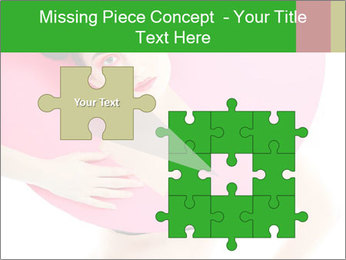 Model with Pink Circle on her Neck PowerPoint Template - Slide 45