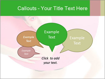 Model with Pink Circle on her Neck PowerPoint Template - Slide 73