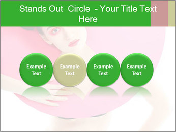 Model with Pink Circle on her Neck PowerPoint Template - Slide 76