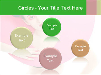 Model with Pink Circle on her Neck PowerPoint Template - Slide 77