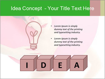 Model with Pink Circle on her Neck PowerPoint Template - Slide 80