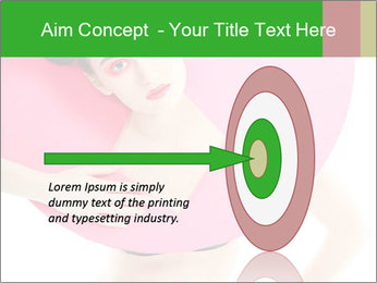 Model with Pink Circle on her Neck PowerPoint Template - Slide 83