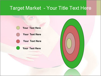 Model with Pink Circle on her Neck PowerPoint Template - Slide 84