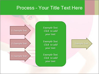 Model with Pink Circle on her Neck PowerPoint Template - Slide 85