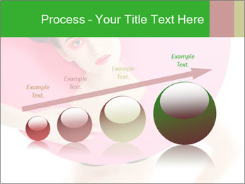 Model with Pink Circle on her Neck PowerPoint Template - Slide 87