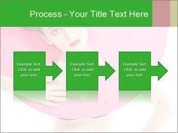 Model with Pink Circle on her Neck PowerPoint Template - Slide 88
