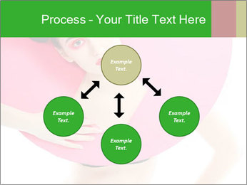 Model with Pink Circle on her Neck PowerPoint Template - Slide 91