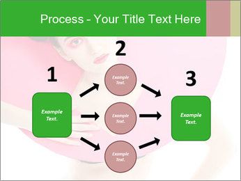 Model with Pink Circle on her Neck PowerPoint Template - Slide 92