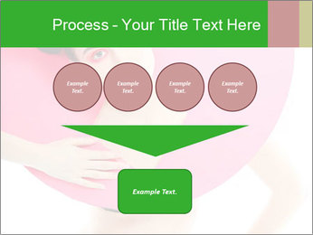 Model with Pink Circle on her Neck PowerPoint Template - Slide 93