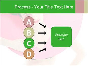 Model with Pink Circle on her Neck PowerPoint Template - Slide 94