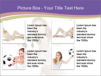 Cute Woman with Soccer Ball PowerPoint Template - Slide 14