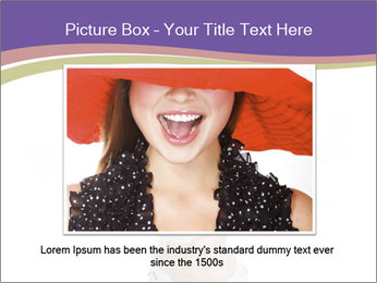 Cute Woman with Soccer Ball PowerPoint Template - Slide 15