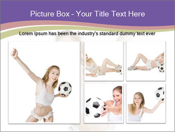 Cute Woman with Soccer Ball PowerPoint Template - Slide 19
